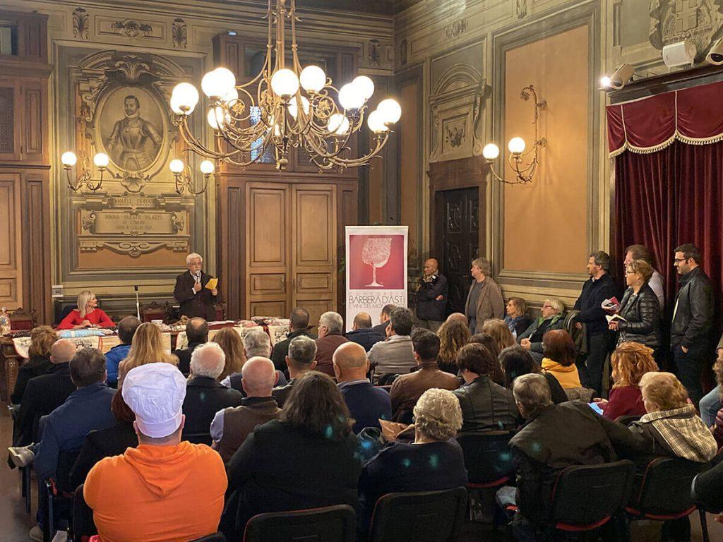 Conferenza stampa di presentazione del Bagna Cauda Day 2019 nel Municipio di Asti