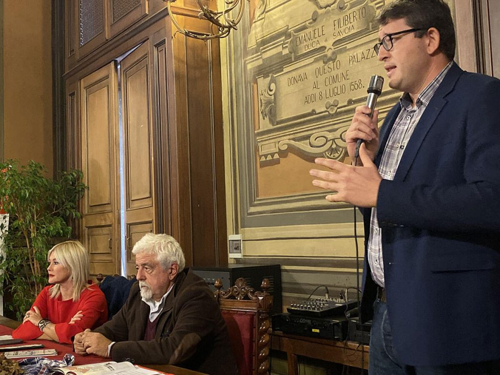 Loretta Bologna, Sergio Miravalle e Alessandro Durando alla presentazione del Bagna Cauda Day 2019
